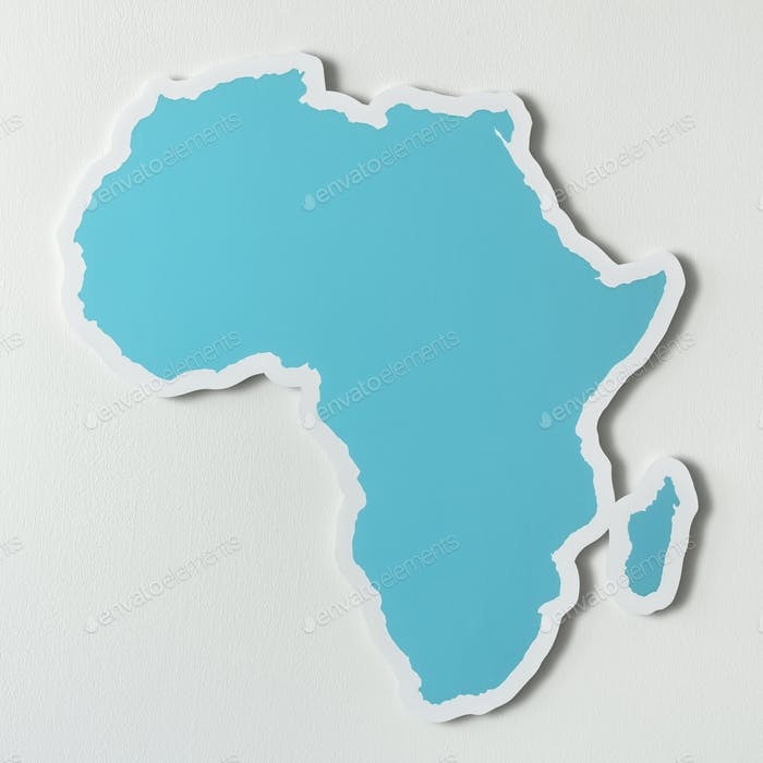 Free blank map of Africa