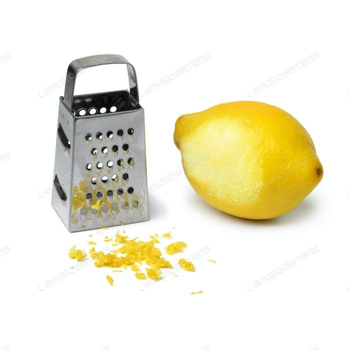 Fresh lemon zest and grater