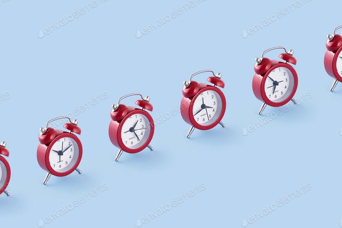 Classic red clocks