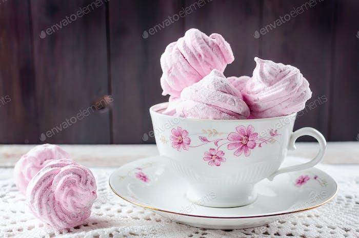 Casero grosella malvaviscos rosados - zephyr