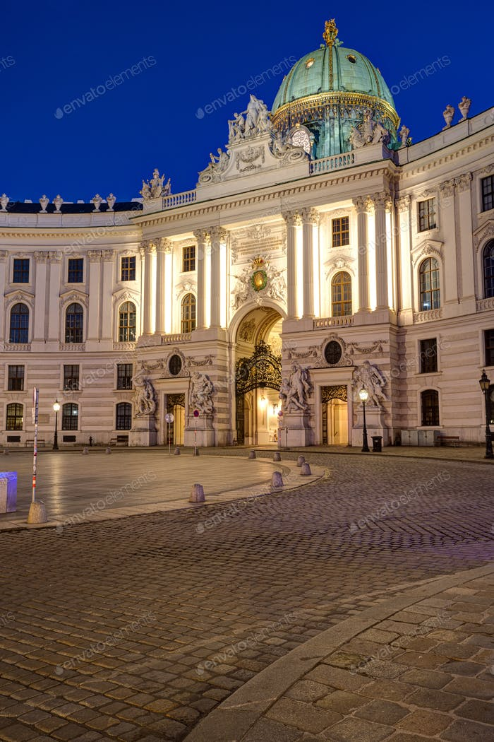 The famous Hofburg in Vienna