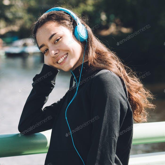 Woman sport outdoors portrait