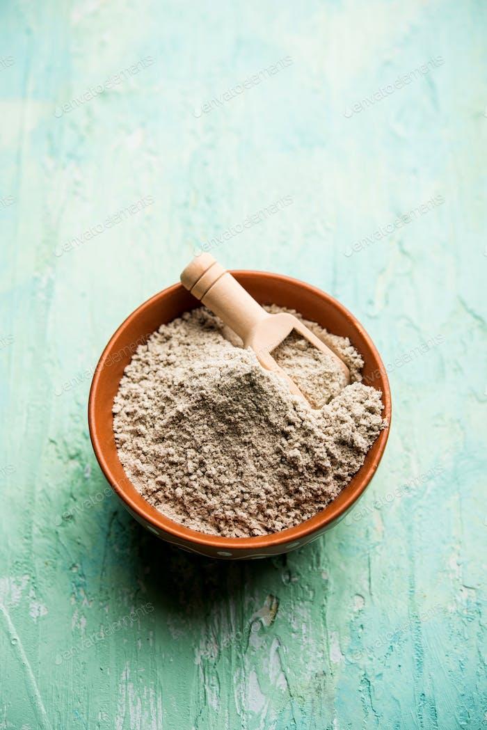 Bajra atta or flour of pearl millet