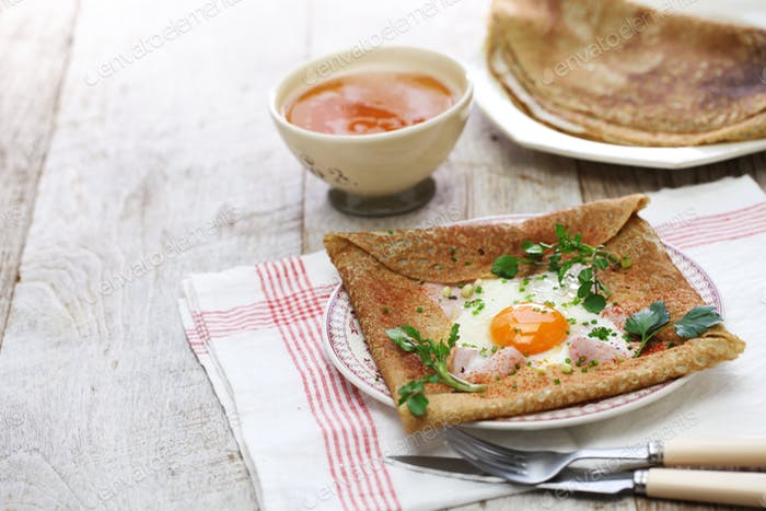 Galette Sarrasin Buckwheat Crepe Photo By Motghnit On Envato Elements