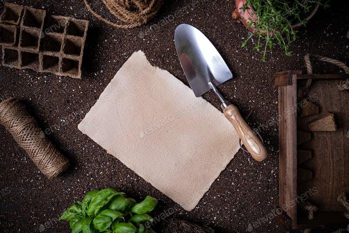 Gärtnerei zu tun Liste Konzept