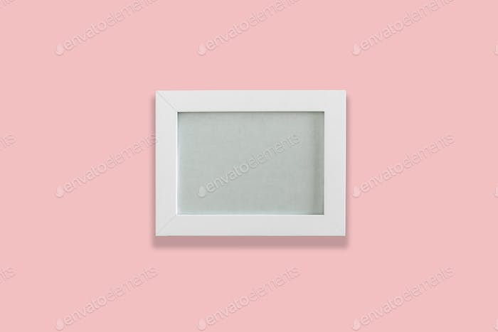 White empty photo frame