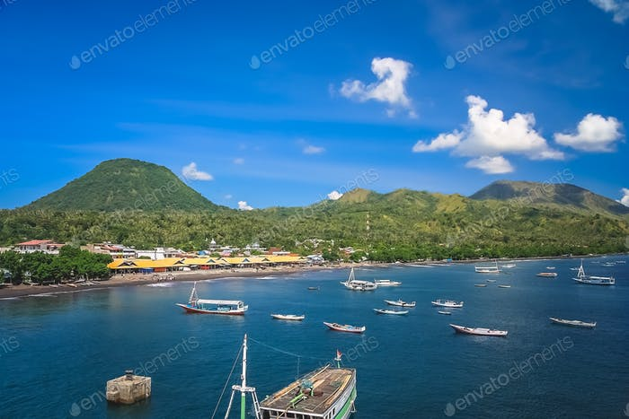 Boats in the bay of Labuhan Bajo
