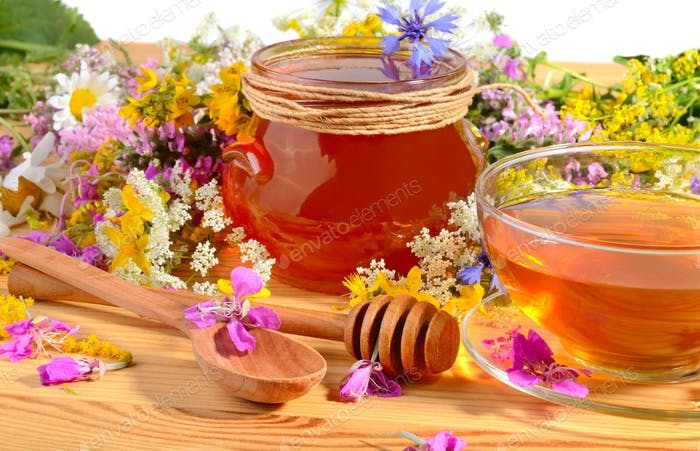 Honey with tea
