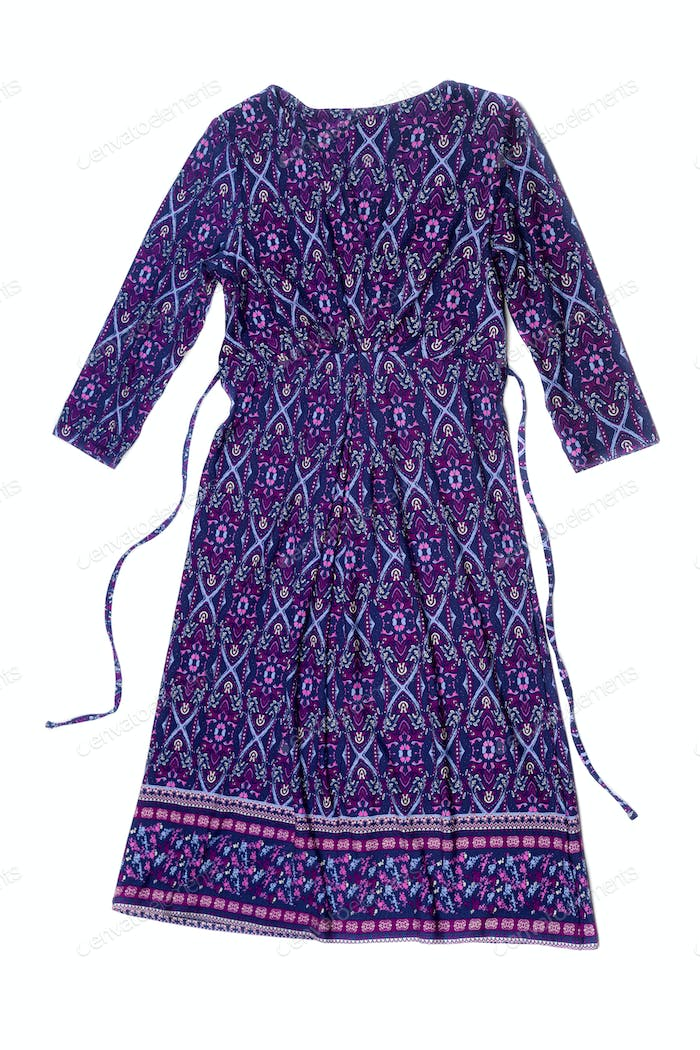 Dress with geometric patterns.