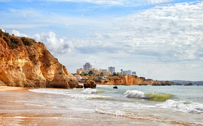 Portimao beach in Algarve, Portugal