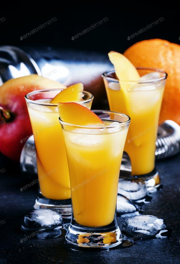 Cocktail with mango and orange liqueur