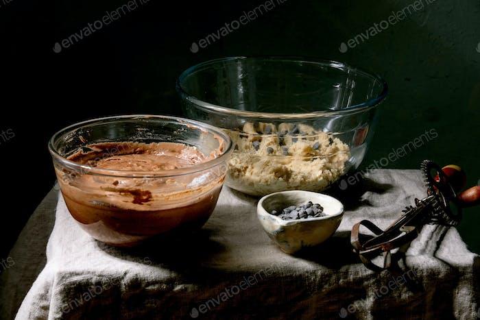 Dough for baking brookies