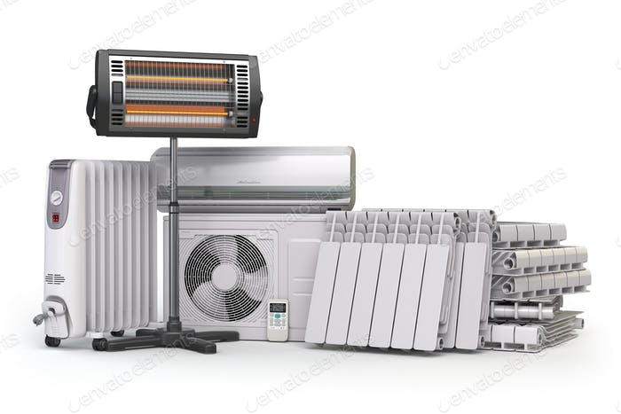 Heating devices and climate equipment.  Heating household applia