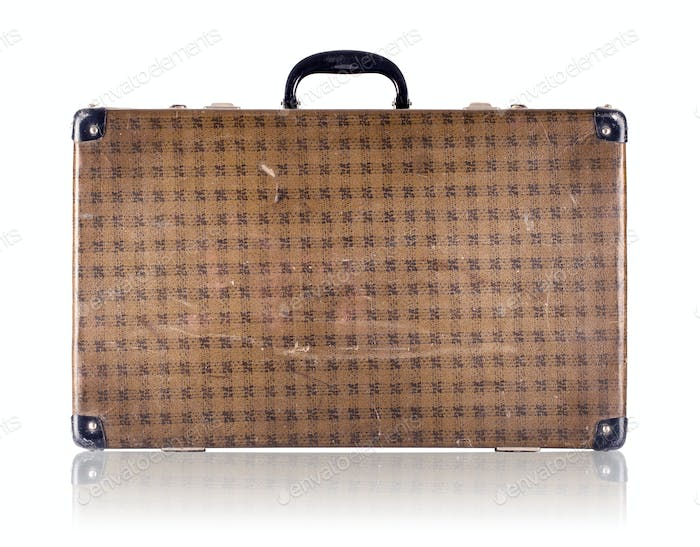 Vintage checkered suitcase