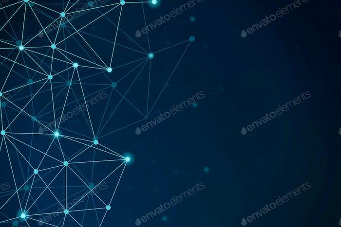 Blue network patterned background
