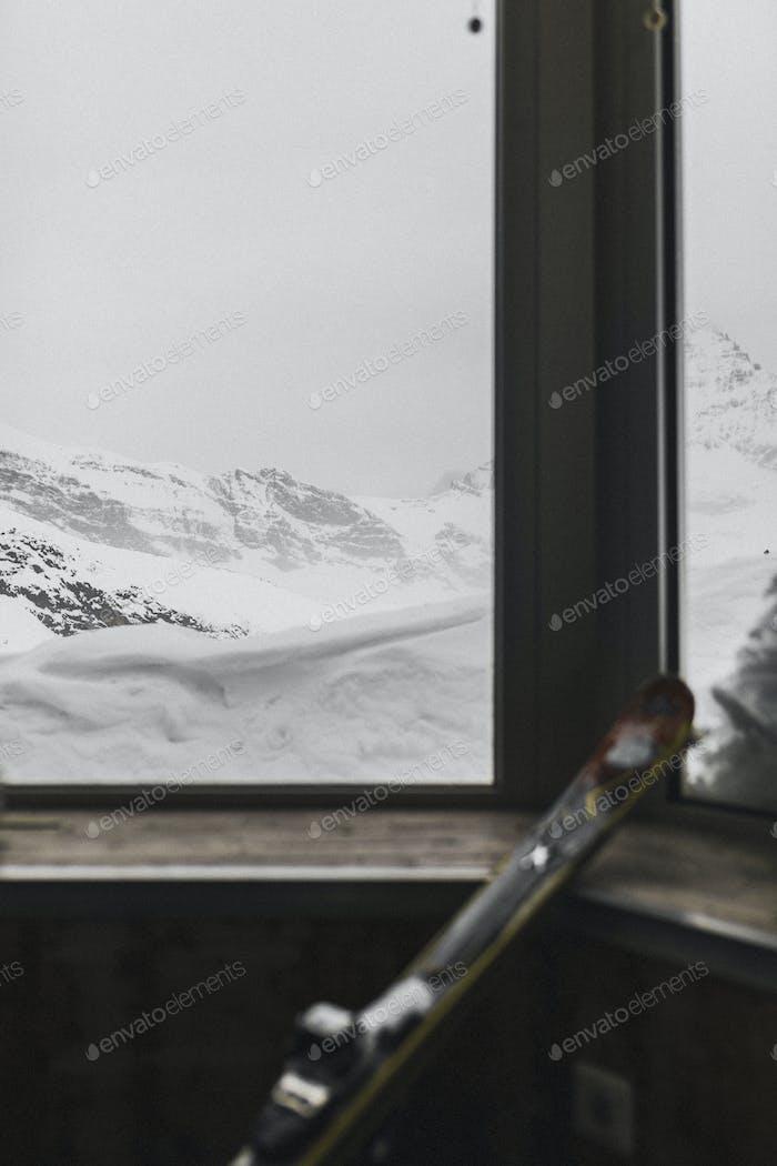 Fenster des Skigebietes