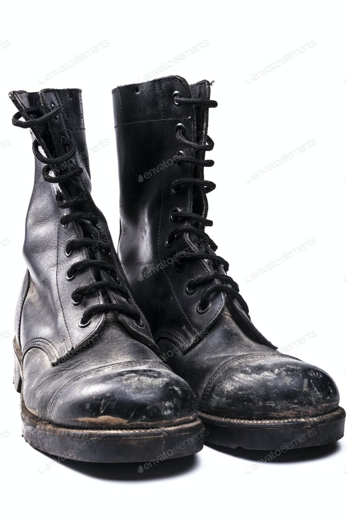 Dirty Army Boots