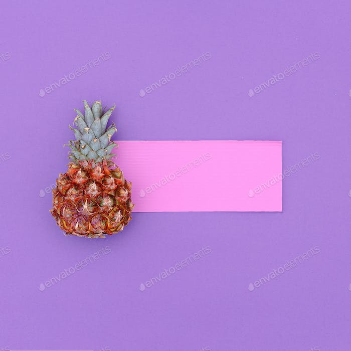 Mini pineapple fashion Minimal art design Candy Colors