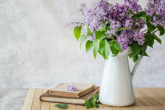Lillac flower romantic background