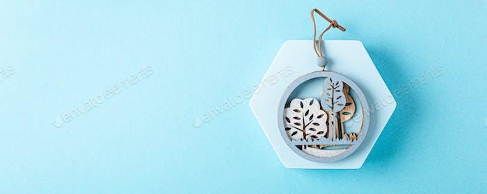 Christmas greeting card concept.