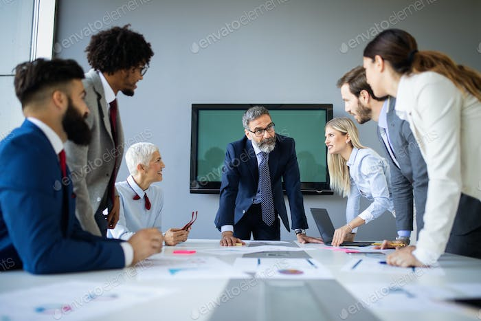 Meeting Corporate Success Business Brainstorming Teamwork Concept