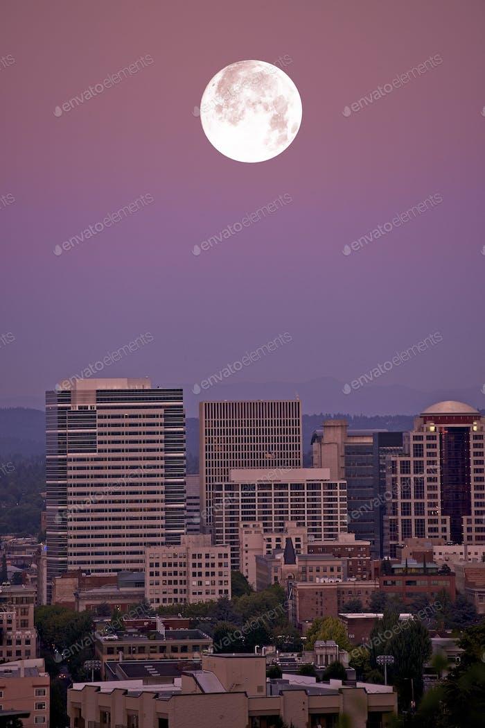 Moon Over Portland