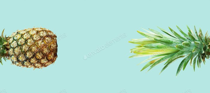Pineapple with green background
