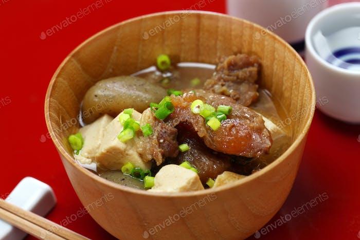 Gyusuji Nikomi ( stewed beef tendon ), Japanese food