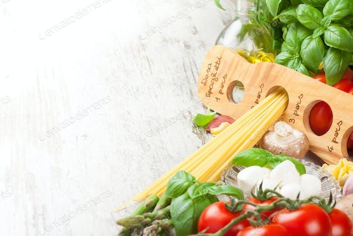 Fond de la cuisine italienne