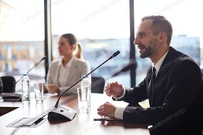 Delegate speaking
