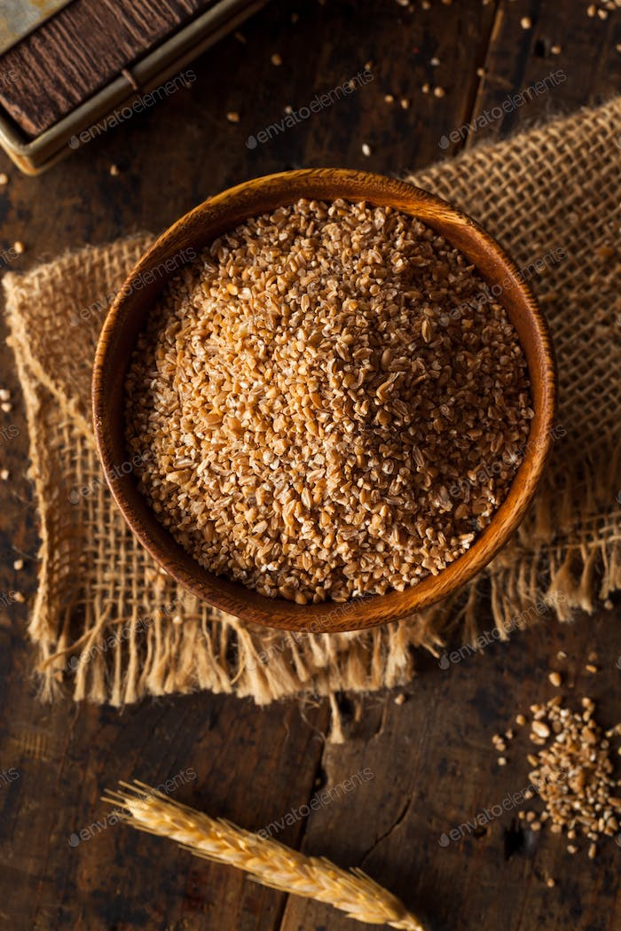 Raw Organic Whole Grain Cracked Wheat