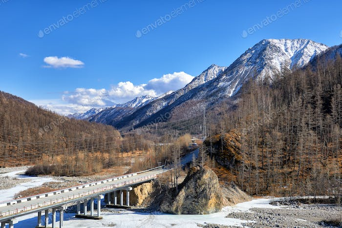 Bridge across White Irkut River
