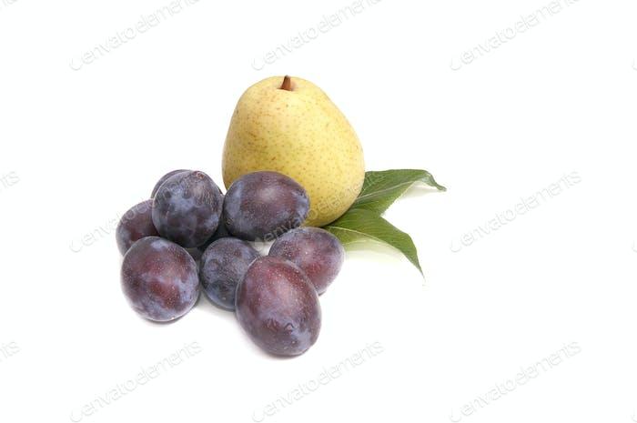 Tasty,ripe fruits on a white.
