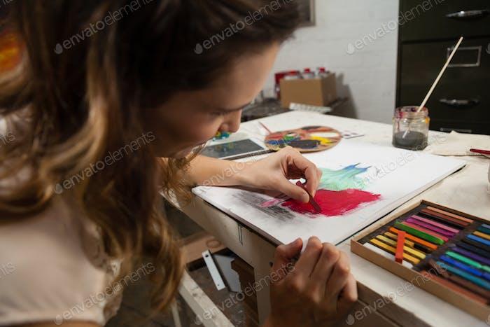 Frau Malerei eine Skizze