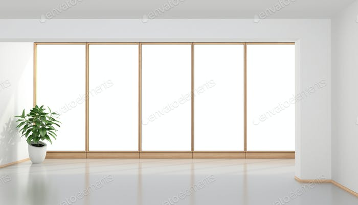Habitación minimalista vacía