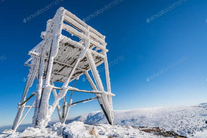 Viewing platform on the top of Szrenica mountain