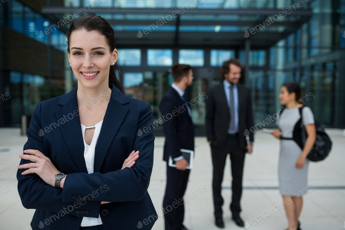 Portrait of a confident businesswoman smiling