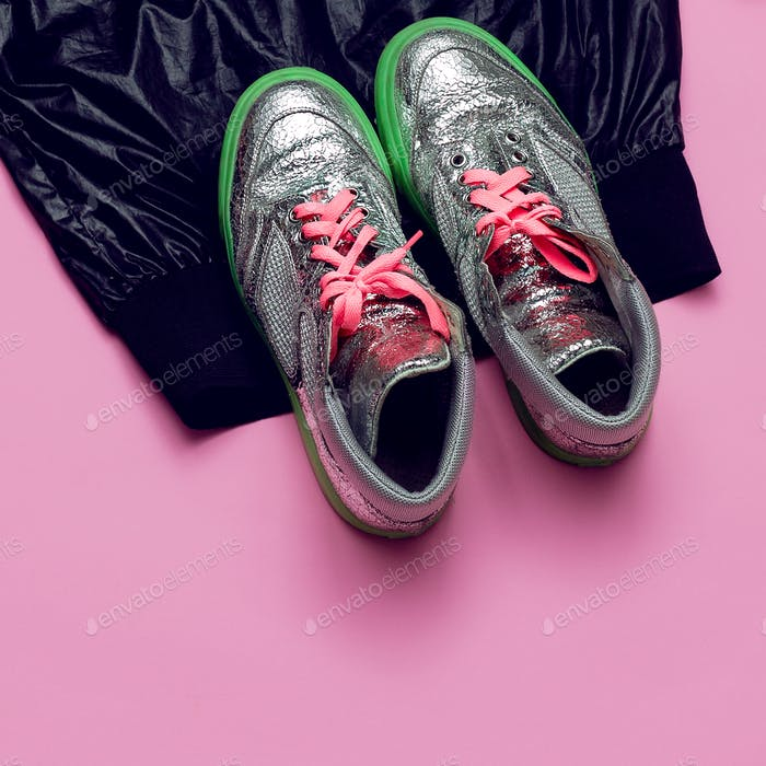 Swag Minimal Sneakers Street fashion Top view Pink Glam