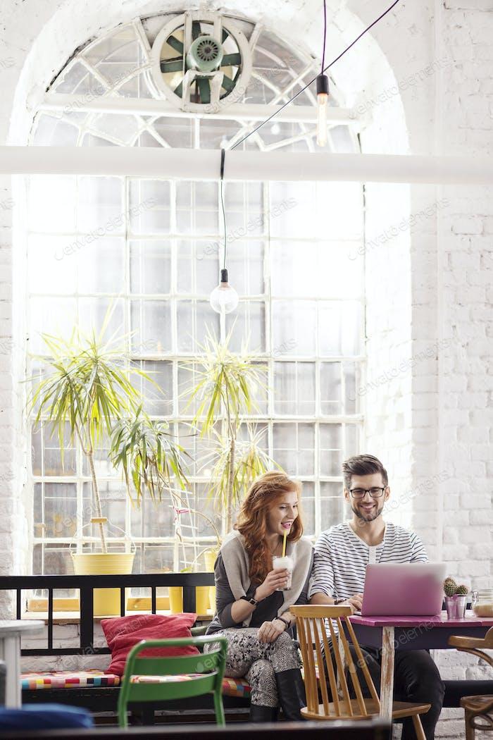 Freelancers working in industrial interior
