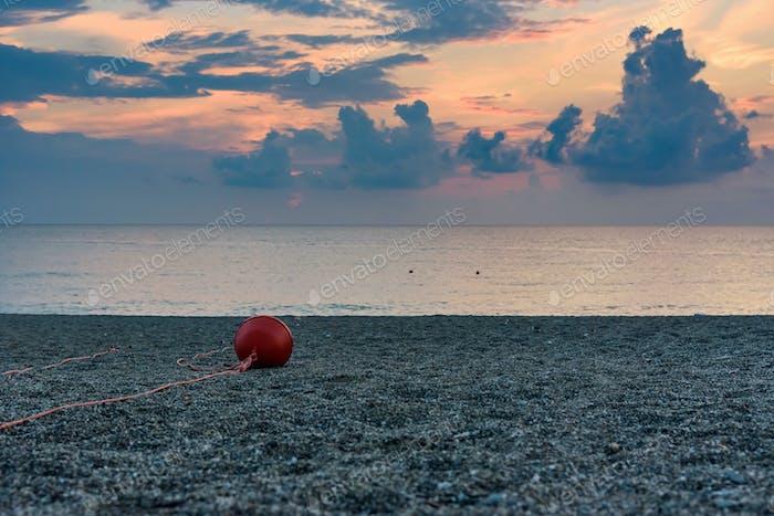 Sunset on the Calabrian beach