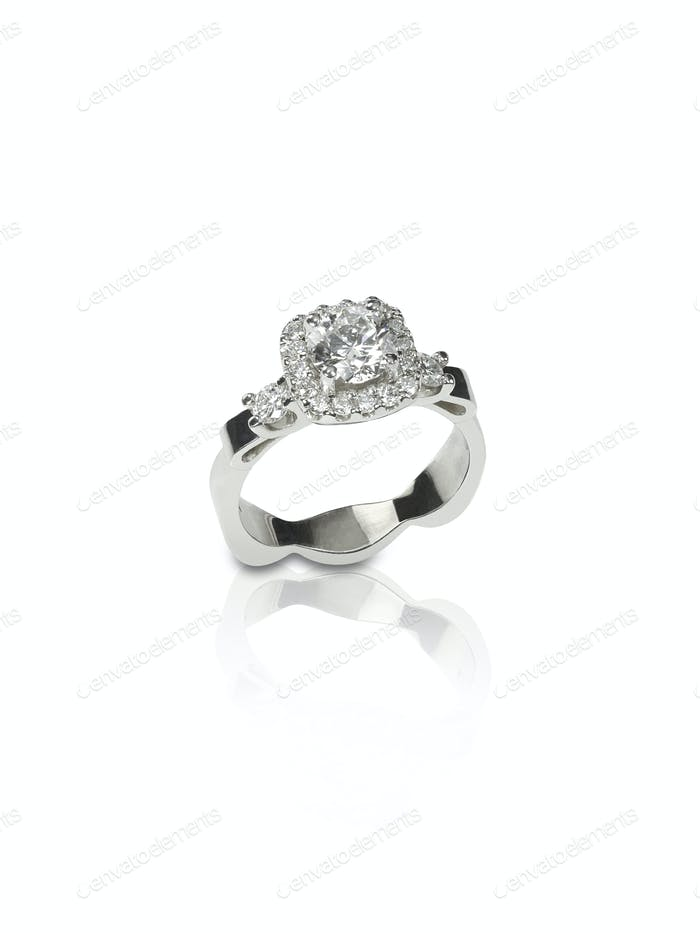 Beautiful princesss cut diamond wedding engagment band ring solitaire