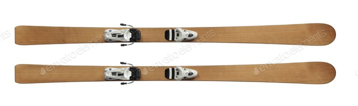 skis isolated on white