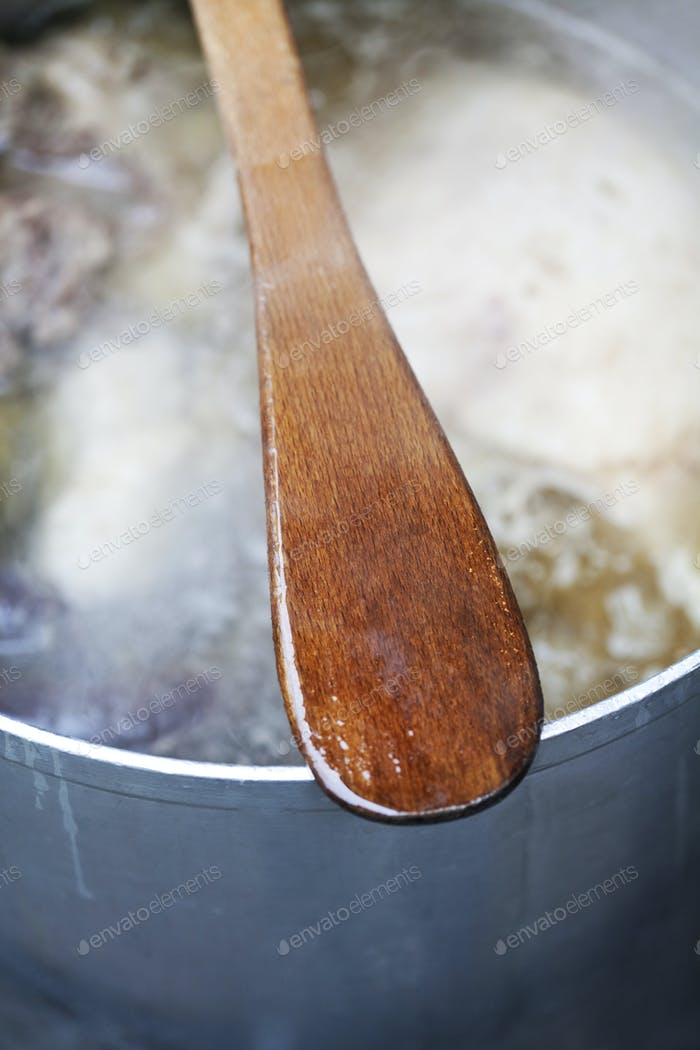 Spoon on a pan