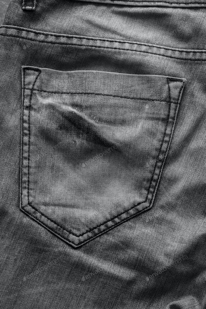 Schwarzer Denim-Taschenuntergrund