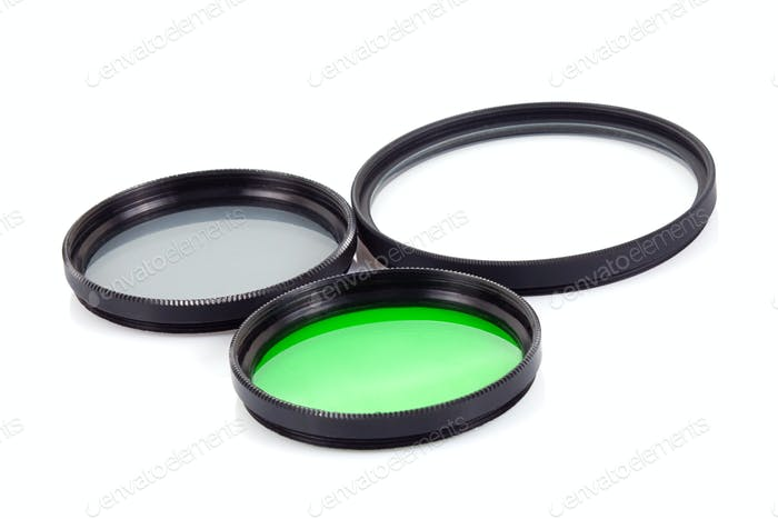filter for lenses on white