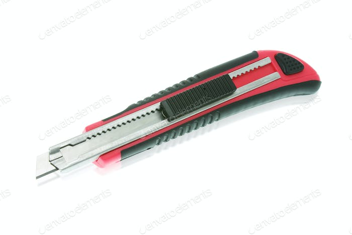 Red utility knife