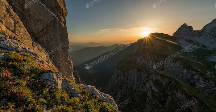 Thumbnail for Beautiful sunrise in the Julian Alps mountains