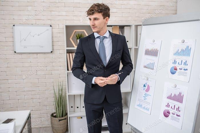 Handsome Business Coach in Seminar