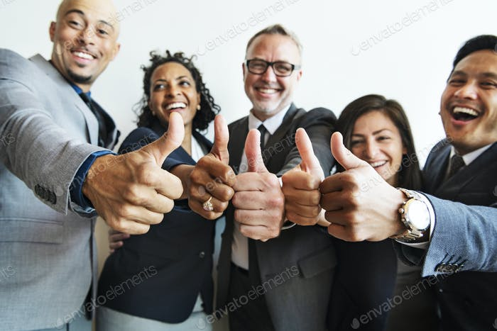 People giving thumbs up