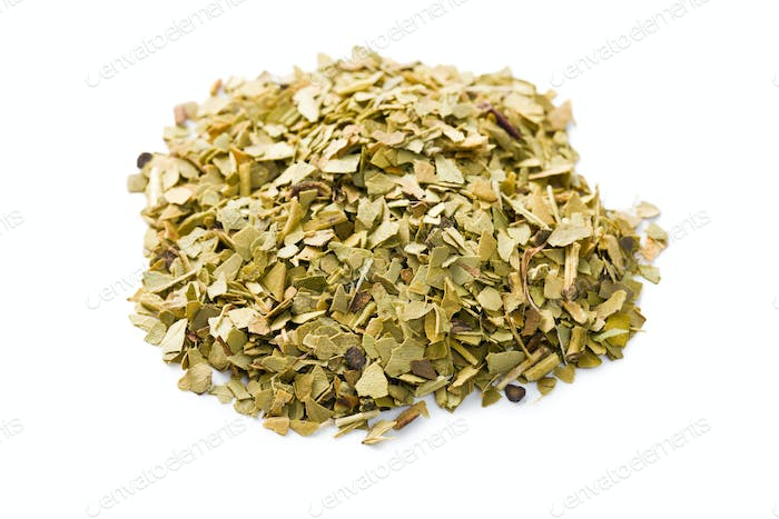 dried leaves of mate tea